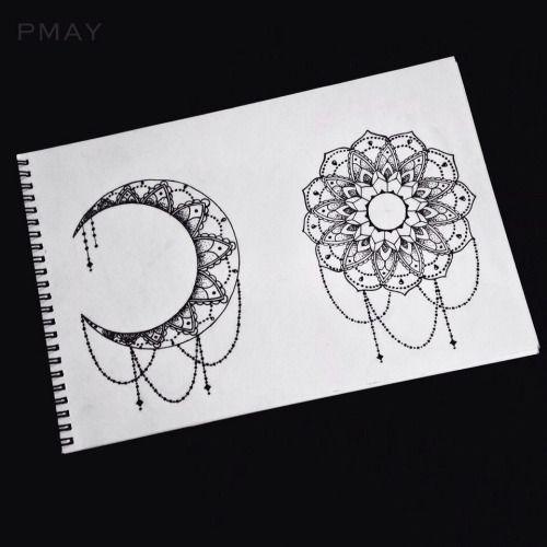 sun and moon mandala tumblr yo pinterest designs de tatuagem tatuagens e riscas. Black Bedroom Furniture Sets. Home Design Ideas