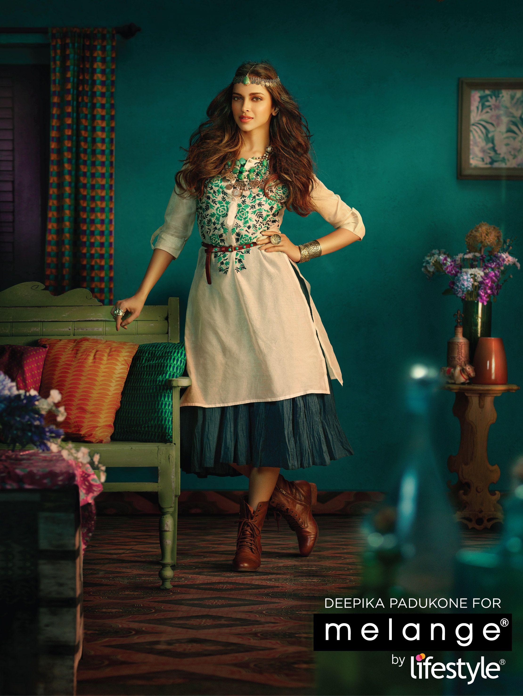 Deepika Now Face Of Melange By Lifestyle Desi Fashion Deepika Padukone Style Indian Outfits
