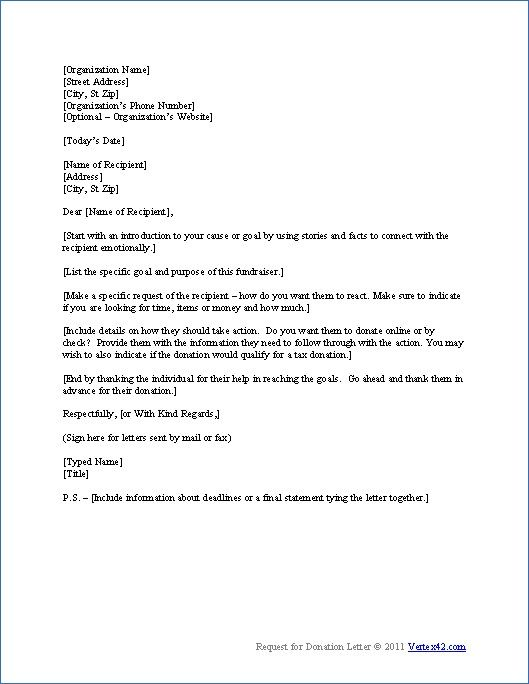 Legal Letter Templates Free Printables Donation letter template