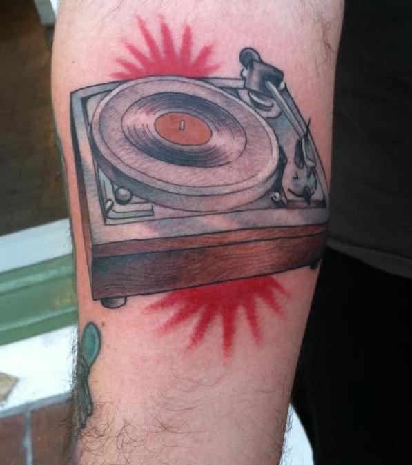 Record Player Tattoo Vinyl Ink Pinterest Tattoo