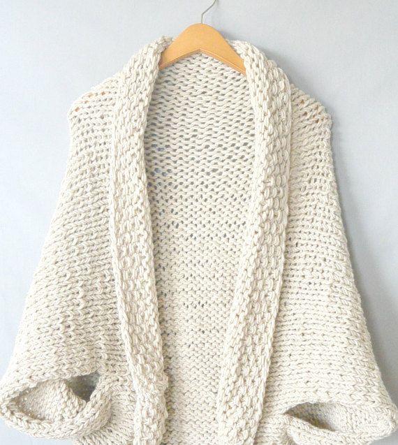 Knit Sweater Pattern, Knit Blanket Sweater, Knitting Pattern Shrug ...