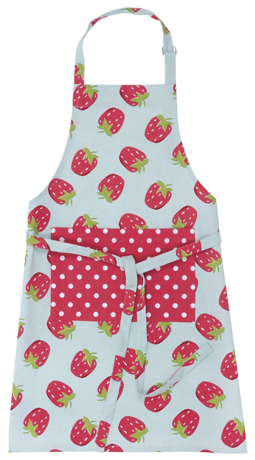 Kitchen   Kids Strawberry Apron   Wallace Cotton
