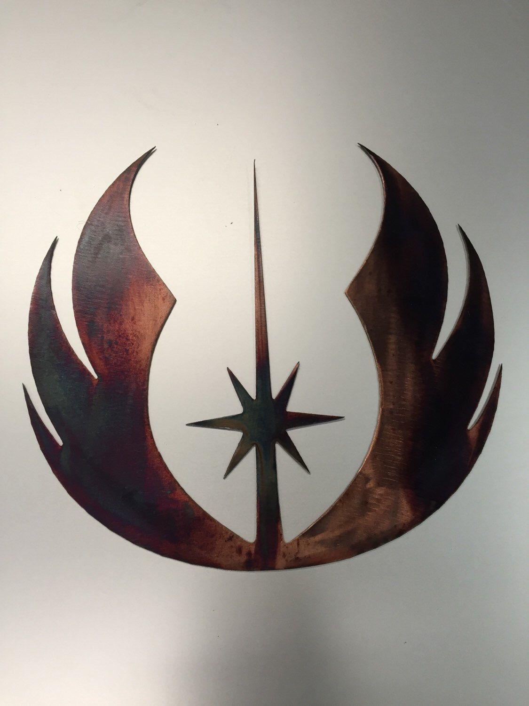 Metal Jedi Symbol Star Wars Wall Art Decor Decoration Gifts For Him Theatre Room Star Wars Wall Art Metal Wall Art Wall Art Decor