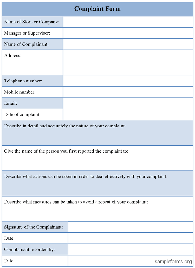 Free Customer Complaint Form Excel Template  About  Projects To