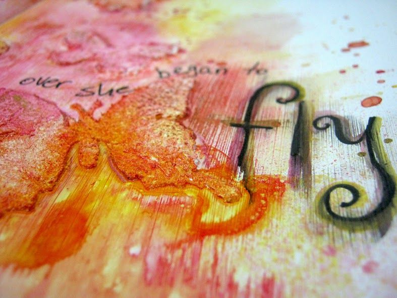 scrappin it: Mixed Media Art Journal Page: Caterpillar