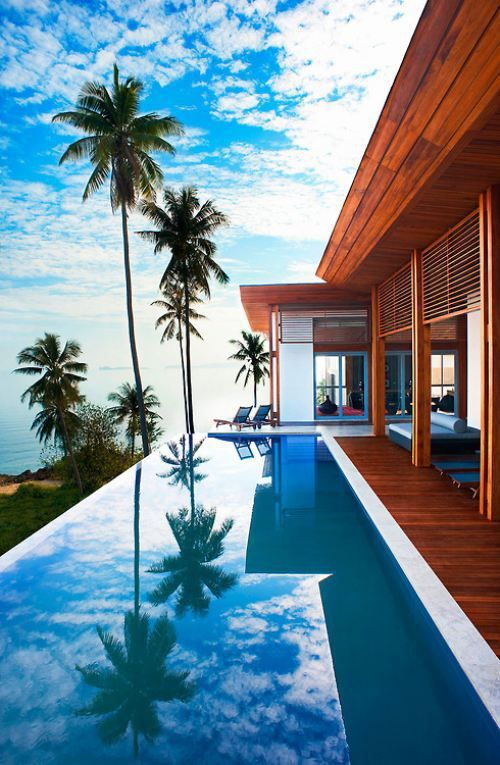 Beautiful ocean view with a pool