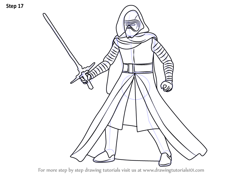 Coloring Pages Kylo Ren : Learn how to draw kylo ren from star wars step