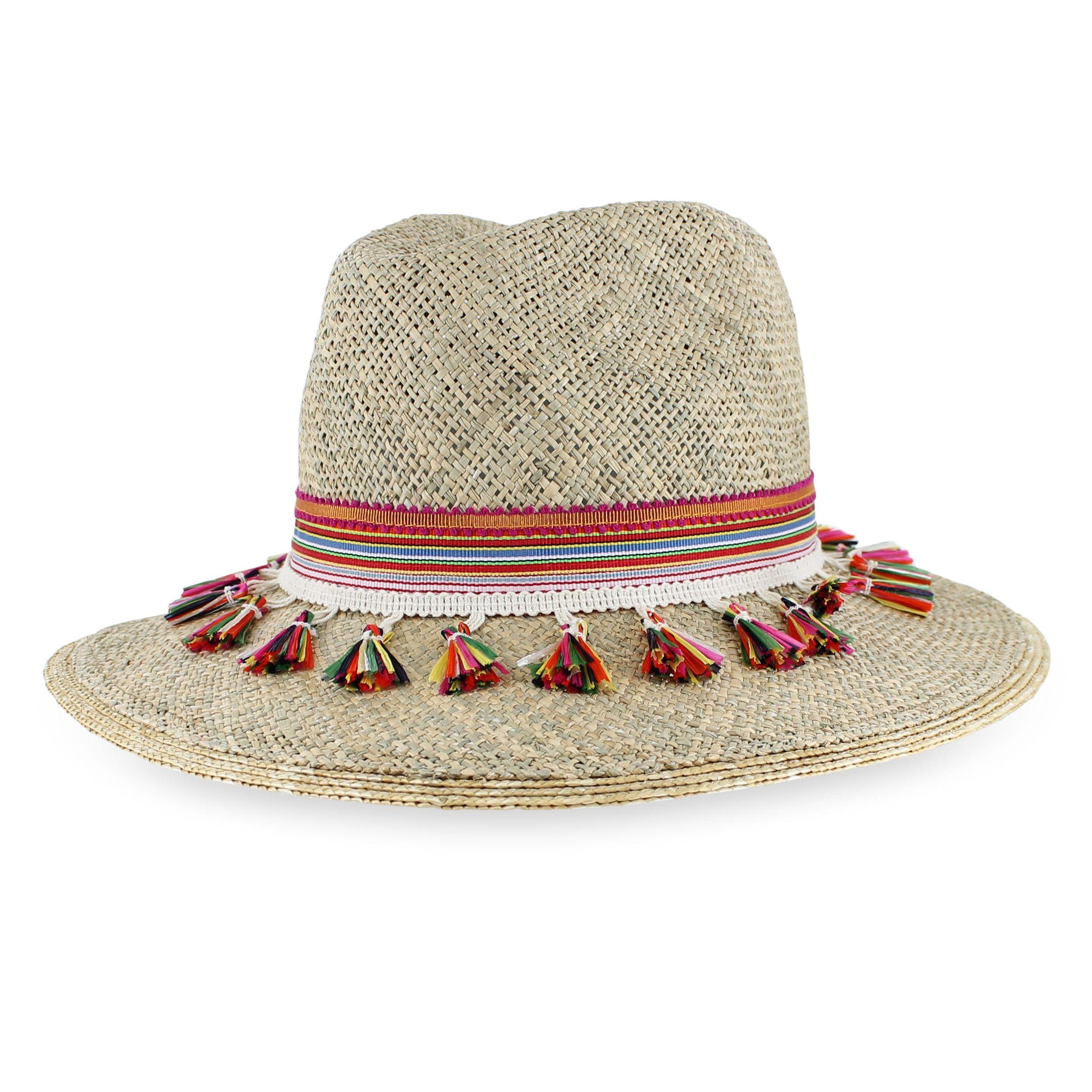 4994079c2ed98a Grevi Tassel Fedora - Seagrass Fedora | fedora painted/sombrero ...
