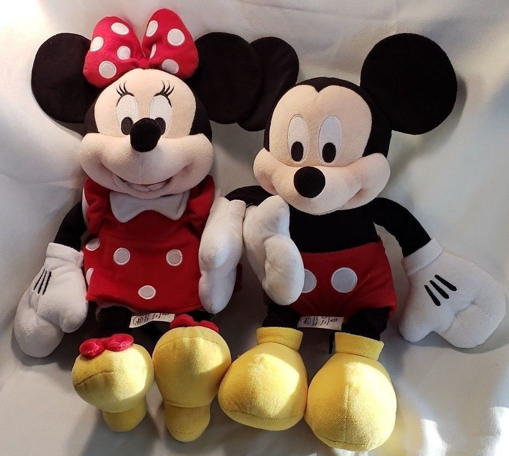 Details About Mickey Mouse Minnie Mouse Large Plush Doll Stuffed