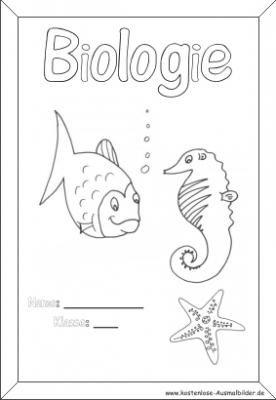 Deckblatt Biologie Deckblatt Deckblatt Schule Biologie