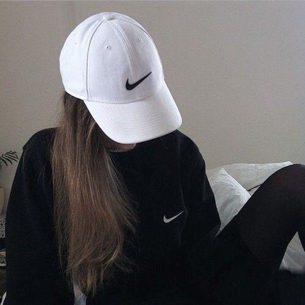 Casquette, Nike, blanche et noir. | love | Tenue nike ...
