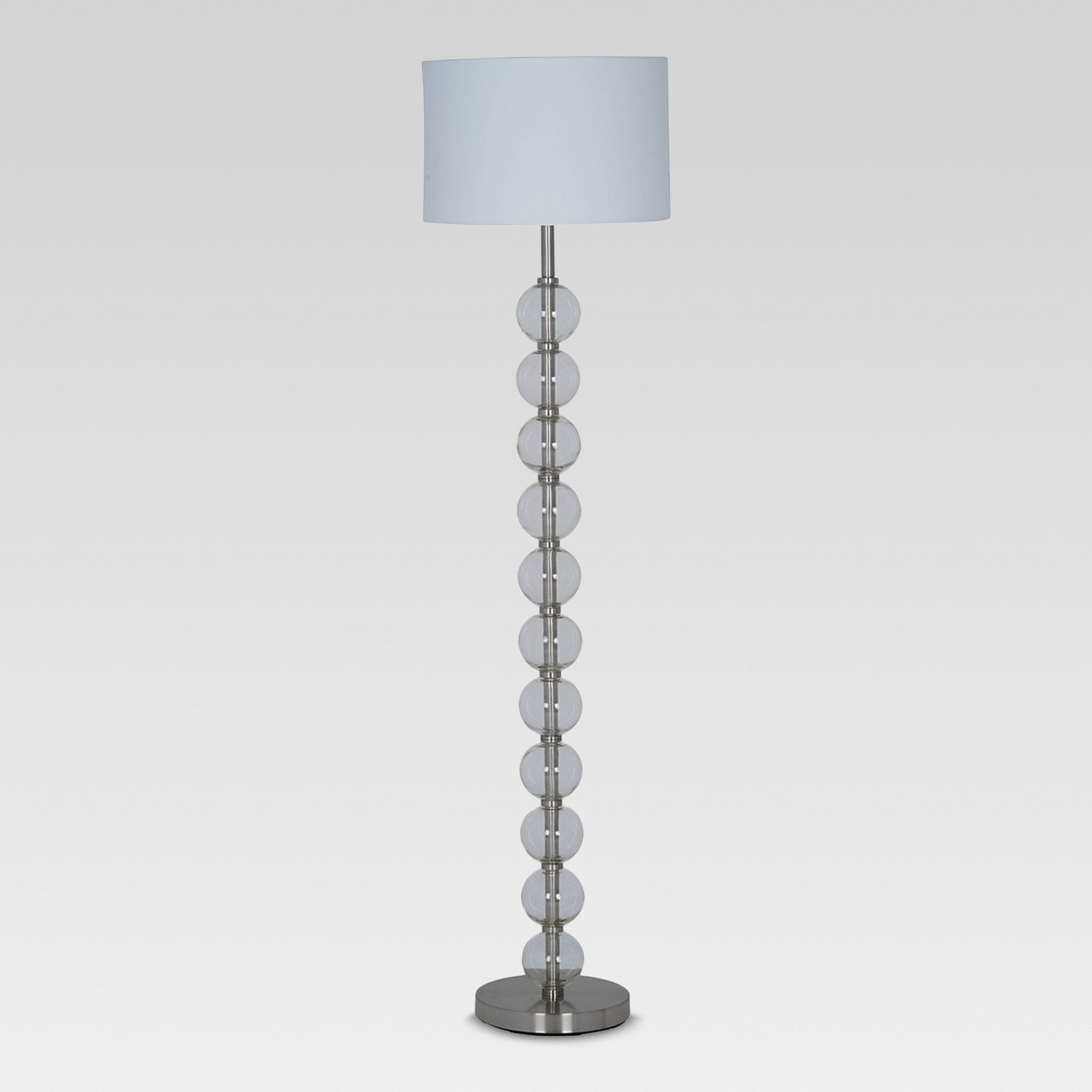 Stacked Glass Ball Floor Lamp