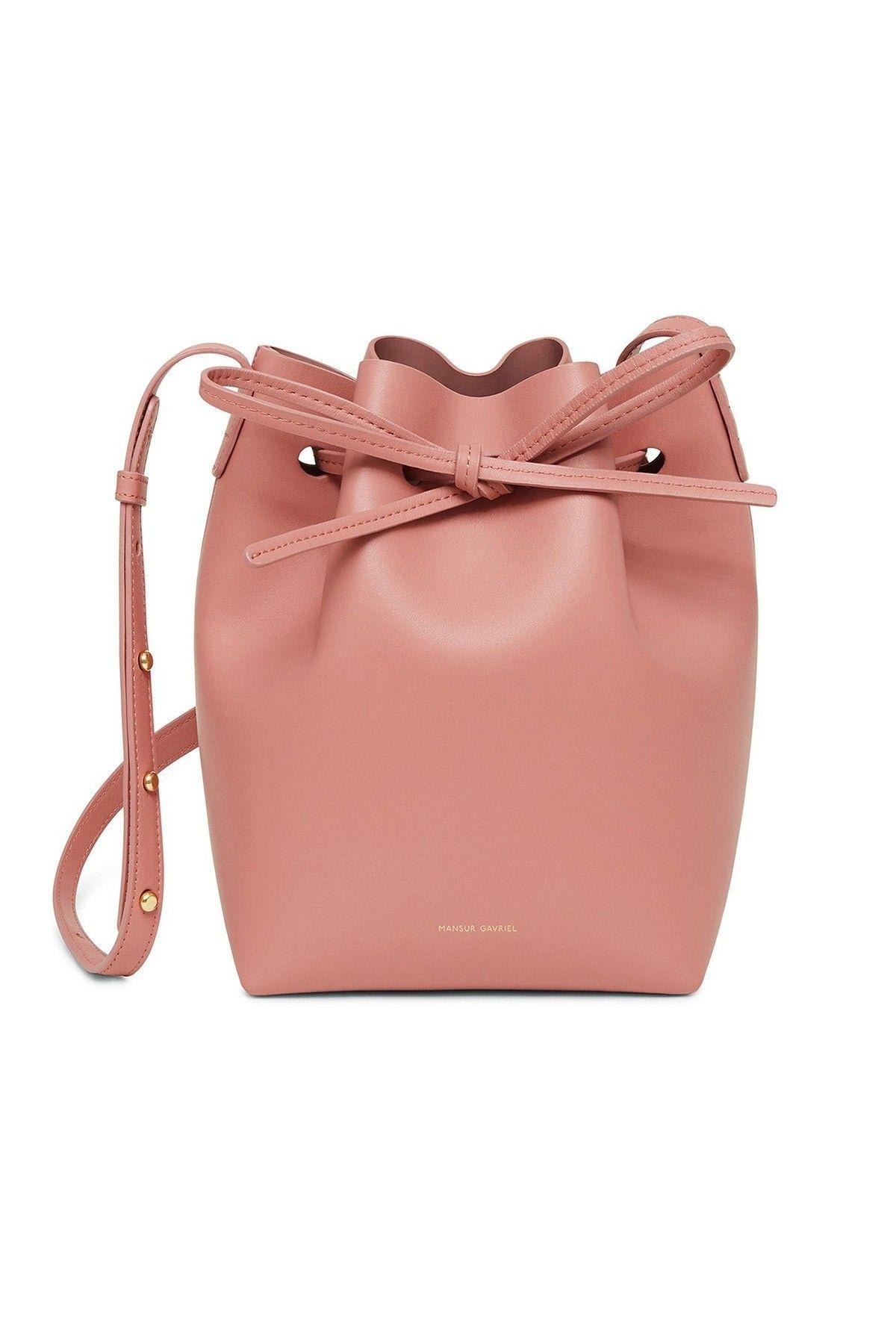Calf Mini Bucket Bag In Blush In 2019 Hampden Bags Bags Bucket