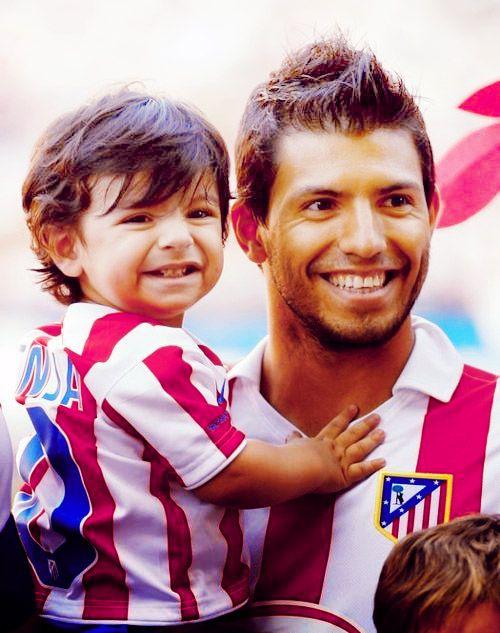 sergio aguero and his son hot boys pinterest