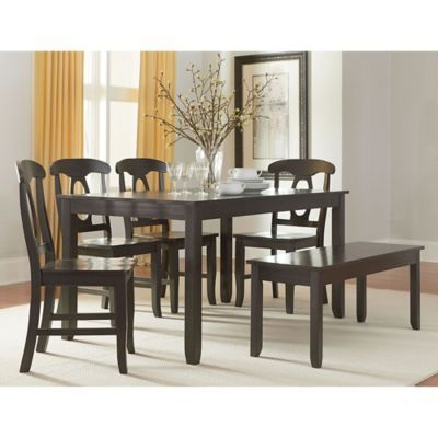 Standard Furniture Grayson 6 Piece Table And Seat Set In Grey