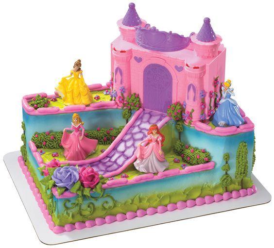 Disney Princess Castle Cake Kit With Carrying Case cakepinscom