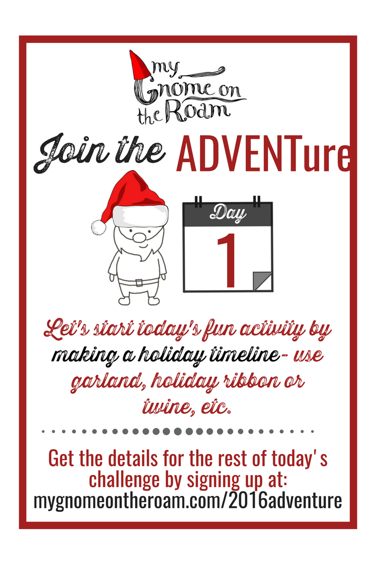 Happy December! It's day 1 of our ADVENTure challenge and we're so excited to get started.
