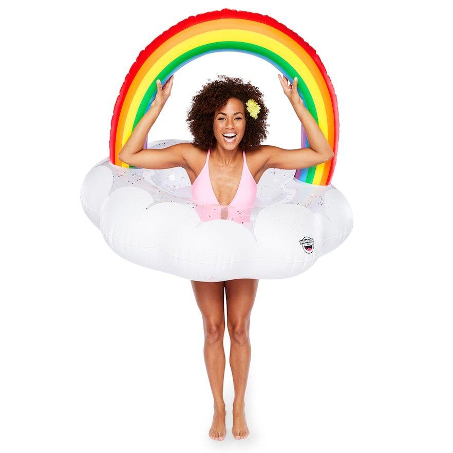 Big Mouth Inc Rainbow Cloud Pool Float Rainbow Pools Pool