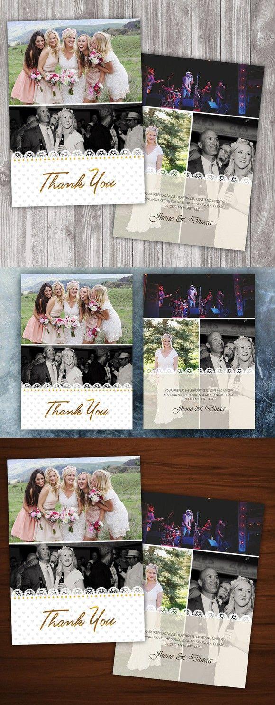 Wedding Thank You Card. Wedding Fonts. $10.00
