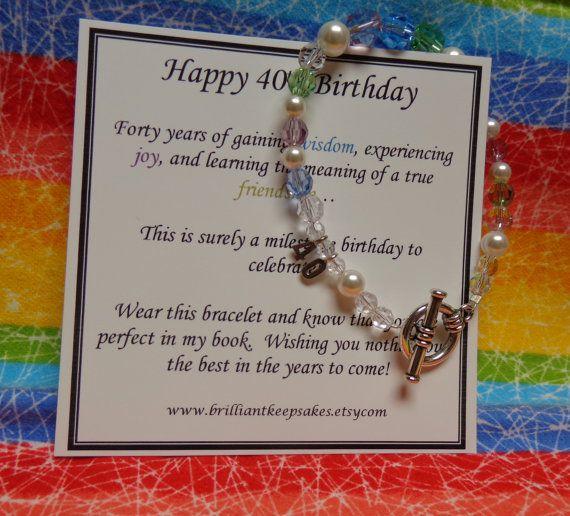 40th Birthday Gift For Her Wisdom Joy By
