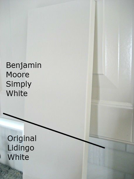 Benjamin moore simply white matches ikea cabinet paint for Best benjamin moore white paint colors for kitchen cabinets