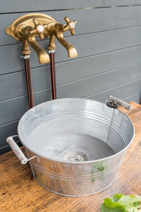 Lovely DIY Upcycling Outdoor Küche Im Boho Vintage Look Aus Einer Alten Werkbank  Als Küche Für Den