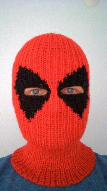 Deadpool Knit Hat Crochet Knit Pinterest Knit Hats Crochet