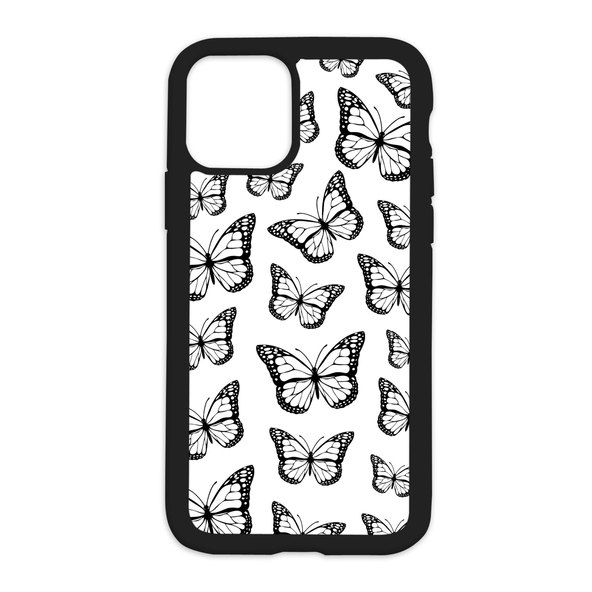 Black Butterfly Design On Black Phone Case - 11