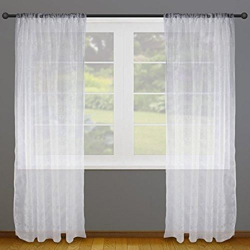Dii Sheer Lace Decorative Window Treatments For Bedroom Living Room