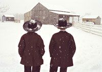winter in Amish land