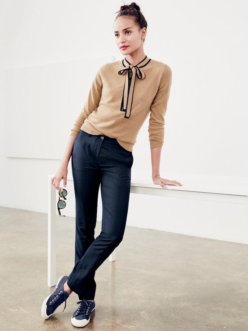 J.Crew Italian Cashmere Tie-Neck Sweater | Favor Style|Women ...