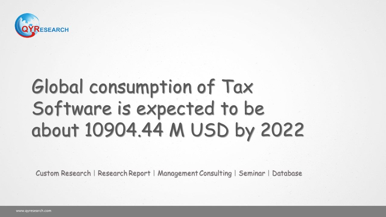 The Global Consumption Of Tax Software Will Show Upward Tendency Further Market Size Is Expected To Be About 10904