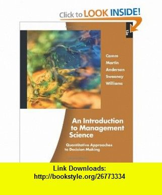 an introduction to management science 13th edition solutions manual free
