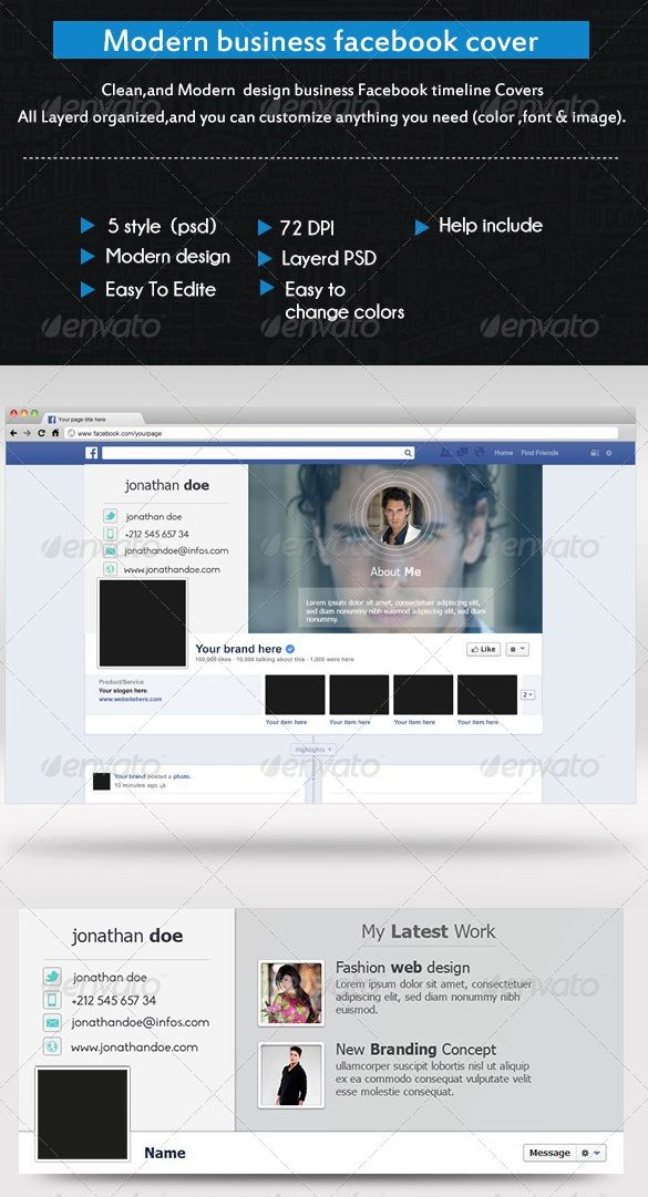 Premium and Free Facebook Timeline Cover Templates Graphic Design - advertising timeline template