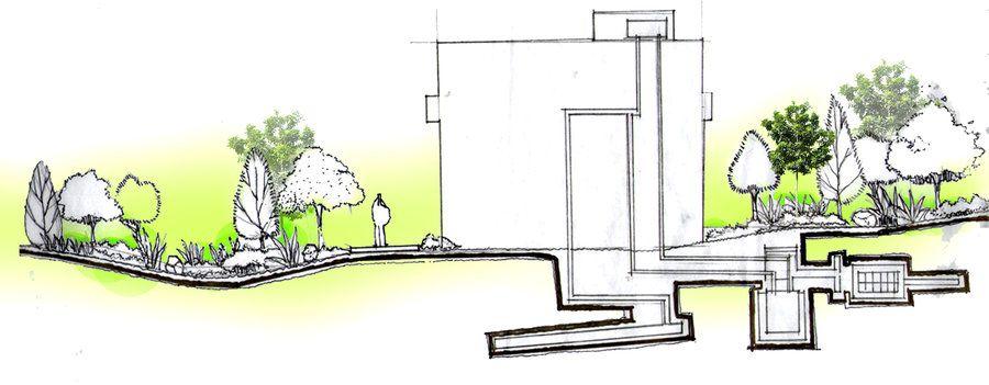 section elevation by saffiq | Landscape architecture ...