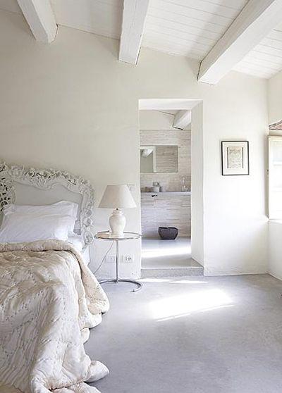 Sierlijk witte slaapkamer  Brocante slaapkamer