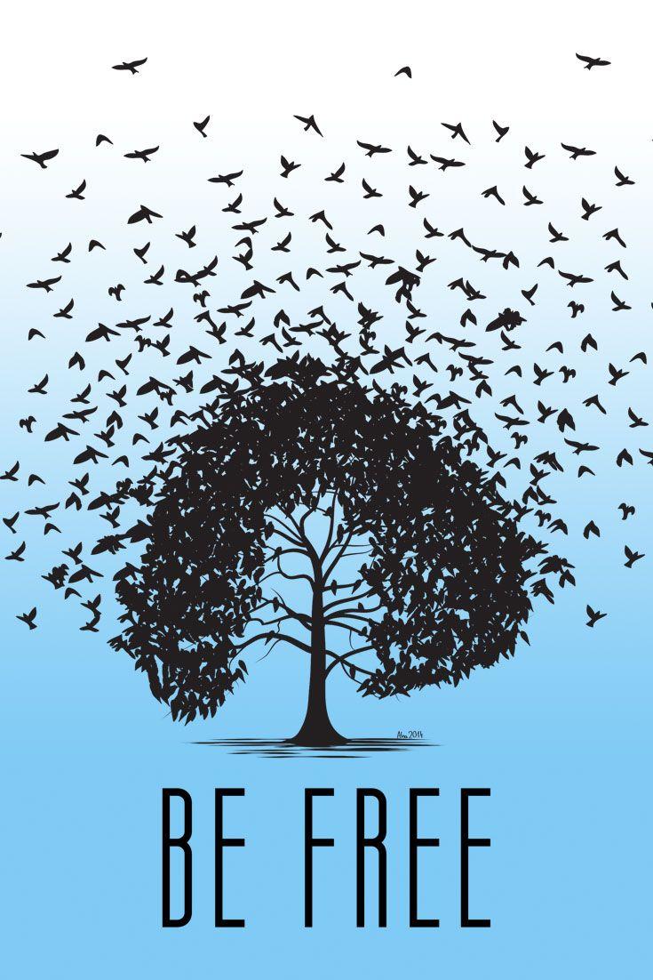 Free t-shirt design -  Be Free Brand New T Shirt Design Graphic Tide Illustration