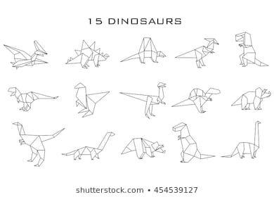 Photo of Geometric Dinosaurs Vector Stock Vector (Royalty Free) 454539127