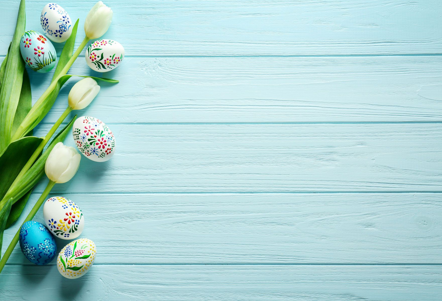 Kate Easter Egg Light blue Wooden Wall Background Still
