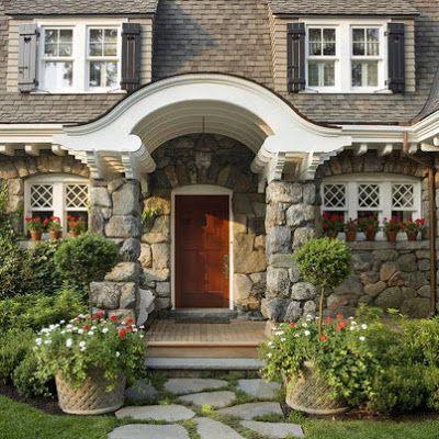 Fachadas de casas rsticas diseos y materiales Pinterest Casas