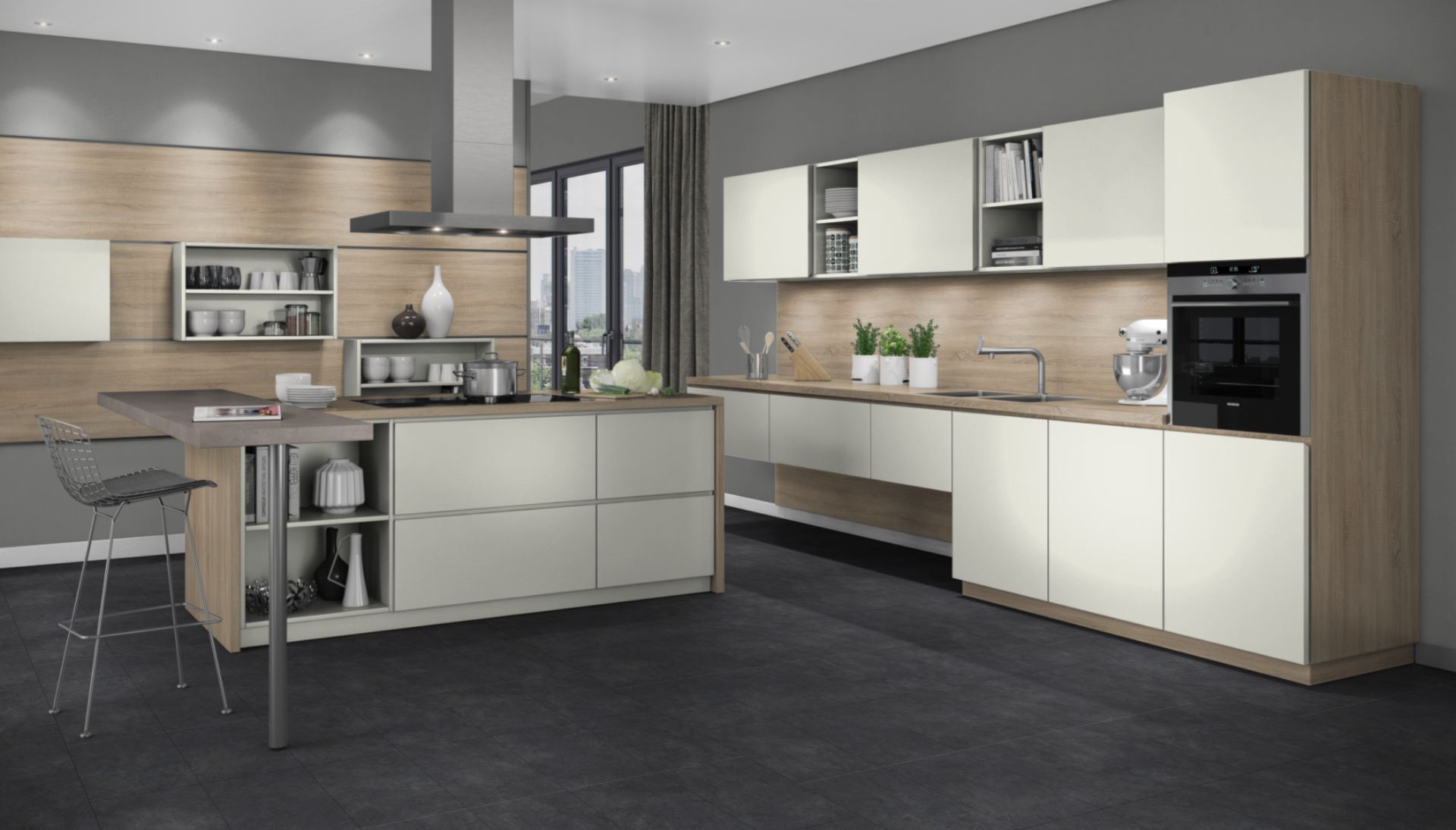 Best Gladstone Oak Grey Beige Google Search Kitchen Design 400 x 300