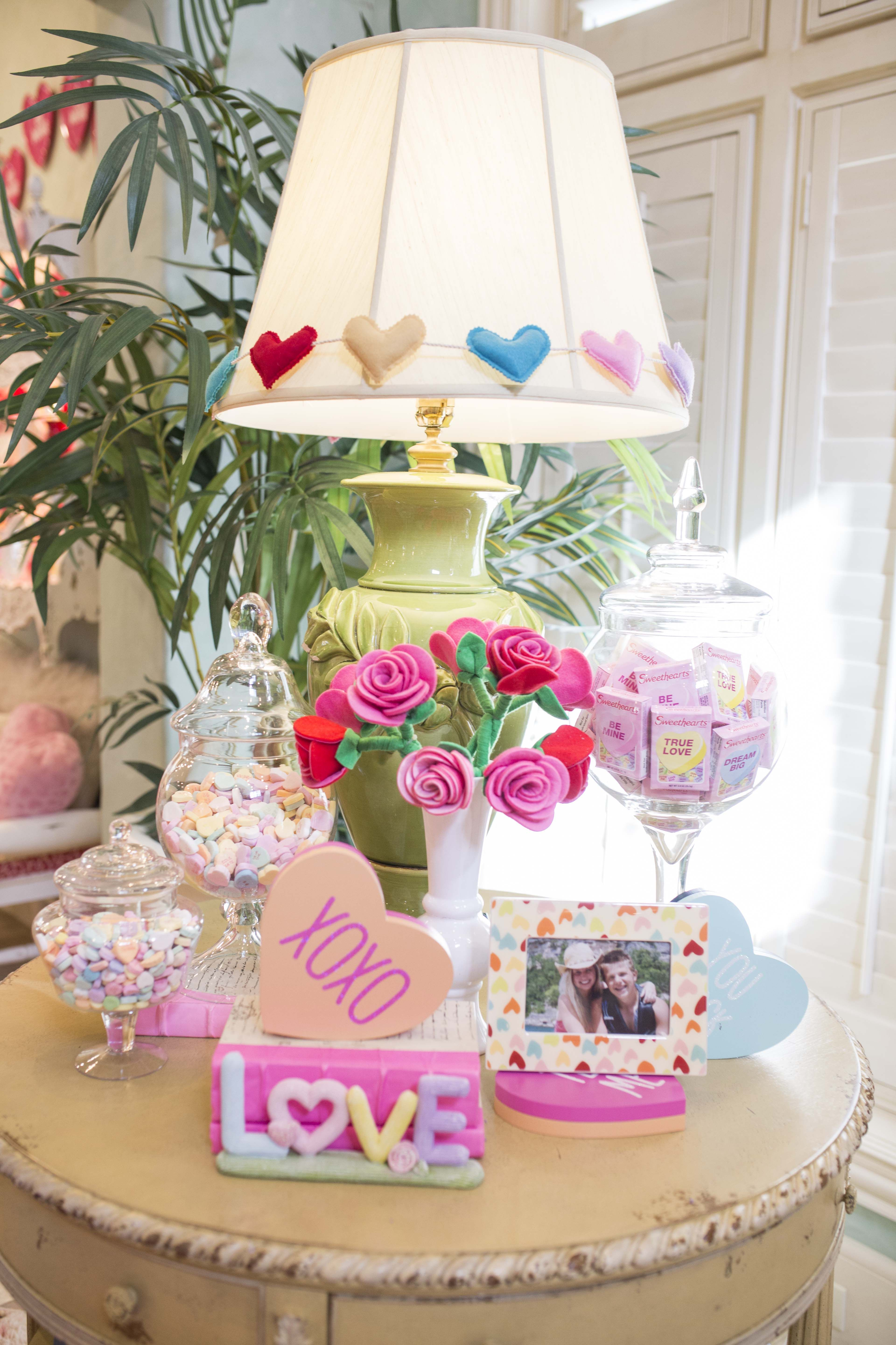 Valentine S Coffee Table Decor By Turtle Creek Lane Valentine Decorations Valentines Day Decorations Diy Valentines Decorations