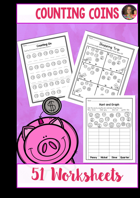 3 Dime Worksheets For Kindergarten Counting Coins Worksheets Counting Money Worksheets Counting Coins Worksheet Money Worksheets