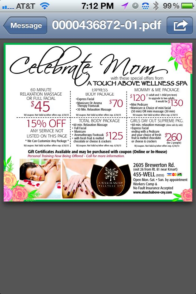 Mothers Day Spa Ideas!