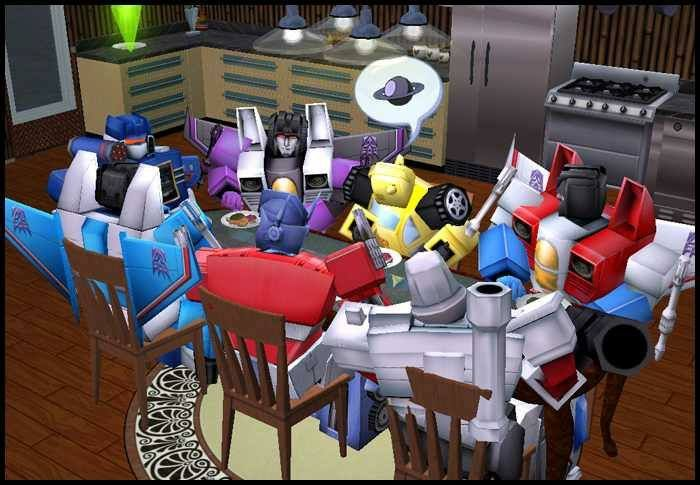 Autobot/decepticon geting along for thanksgiving. Happy Thanksgiving.