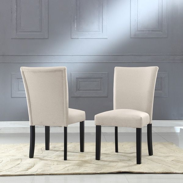 Sally Classic Upholstered Fabric Dining Side Chair Set Of 2 Stunning Side Chairs Dining Room Decorating Inspiration