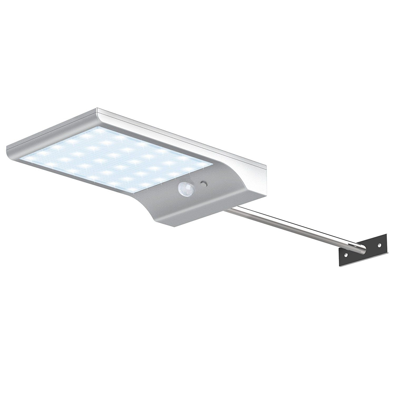 Innogear solar gutter lights with mounting pole outdoor motion