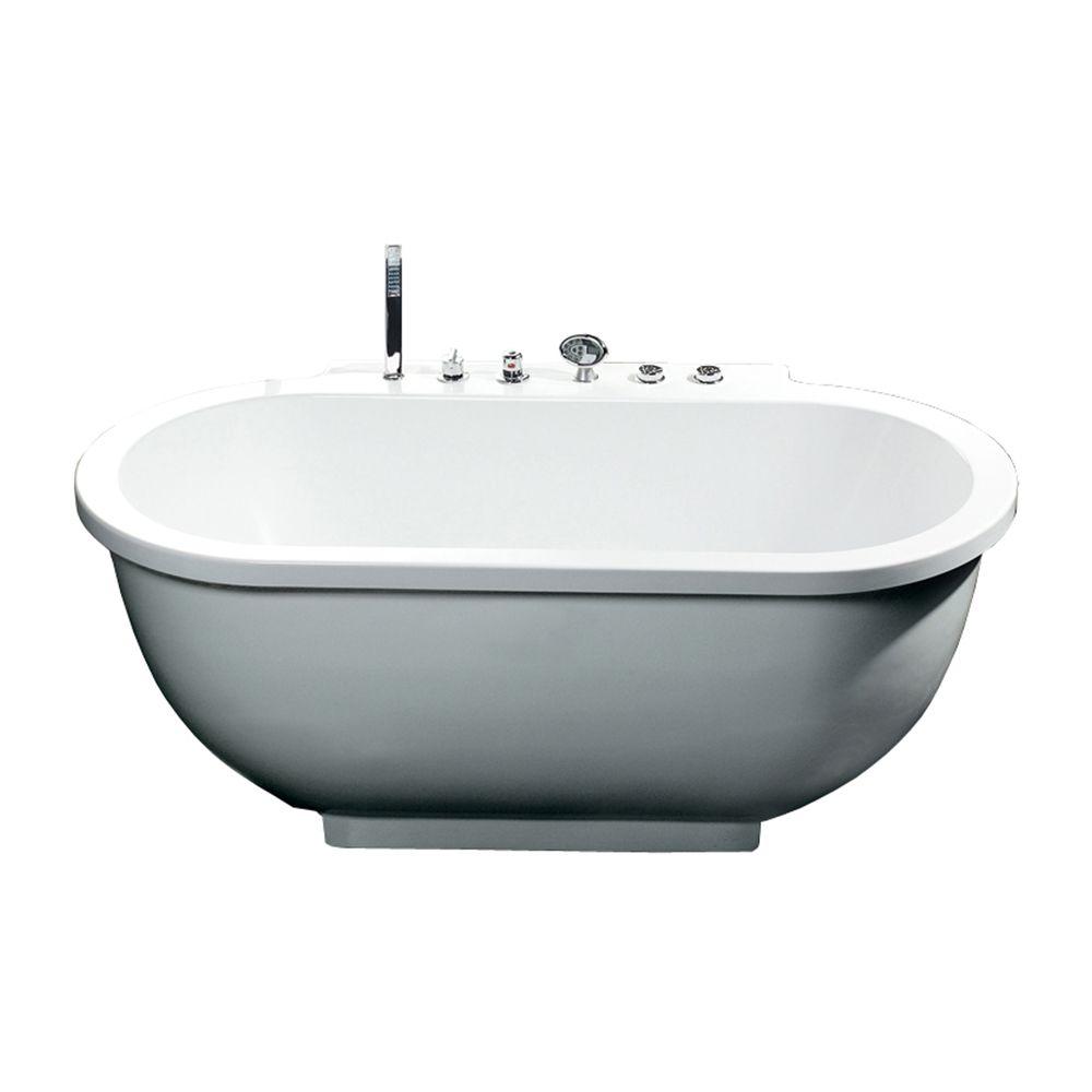 Ariel Bath AM128 Ariel Platinum Whirlpool Freestanding Tub   ATG ...