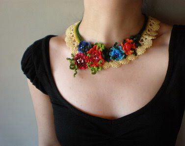 the red thread: Etsy Search Top 10: Crochet + Necklace