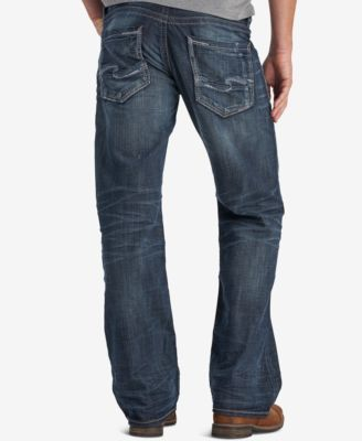 Silver Jeans Co. Men's Zac Relaxed-Straight Fit Stretch Jeans - Blue 36x30